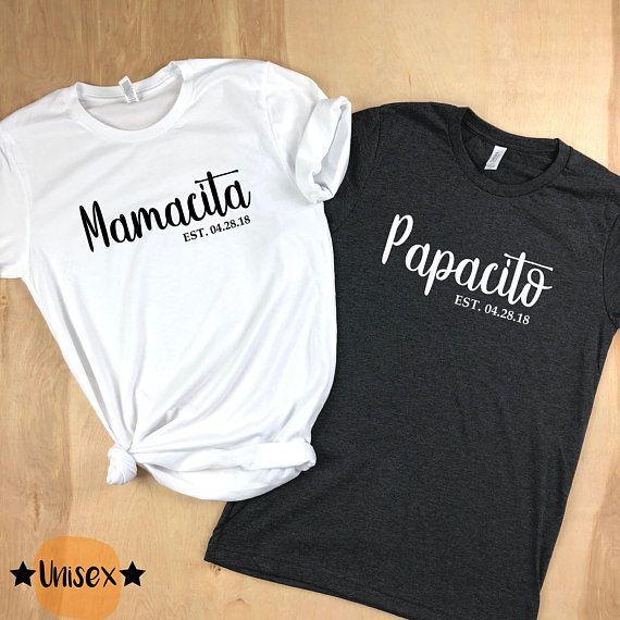 New Mom Shirt 2018, New Dad Shirt, Mamacita Shirt, Papacito Shirt, Couples  Shirts, New Mom Gift, New Dad Gift, New Baby Gift, New Mom