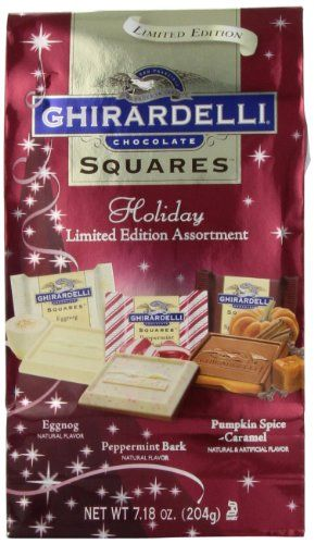 Ghirardelli Chocolate Squares, Limited Edition Holiday Assortment, 7.18-Ounce Holiday Packages (Pack of 4) - http://mygourmetgifts.com/ghirardelli-chocolate-squares-limited-edition-holiday-assortment-7-18-ounce-holiday-packages-pack-of-4/