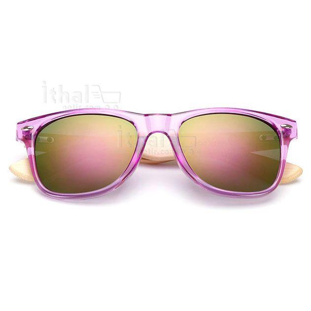 UV400 Korumalı, Gerçek Ahşap Güneş Gözlükleri - IGD090613425 - Vintage Güneş Gözlükleri, Ayna Camlı Güneş Gözlükleri, Bambu Güneş Gözlükleri
