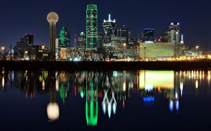 Downtown Dallas looking across trinity river