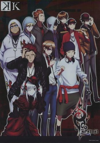 K~K Project shiny poster official Japan Suoh Mikoto , Kusanagi Izumo , Yata Misaki , Kushina Anna , Kamamoto Rikio ,  Homra
