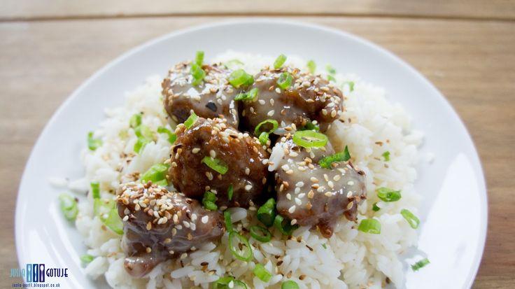 Jusia gotuje - szybkie, proste i smaczne przepisy dla całej rodziny.: Smażony kurczak w miodowym sosie.