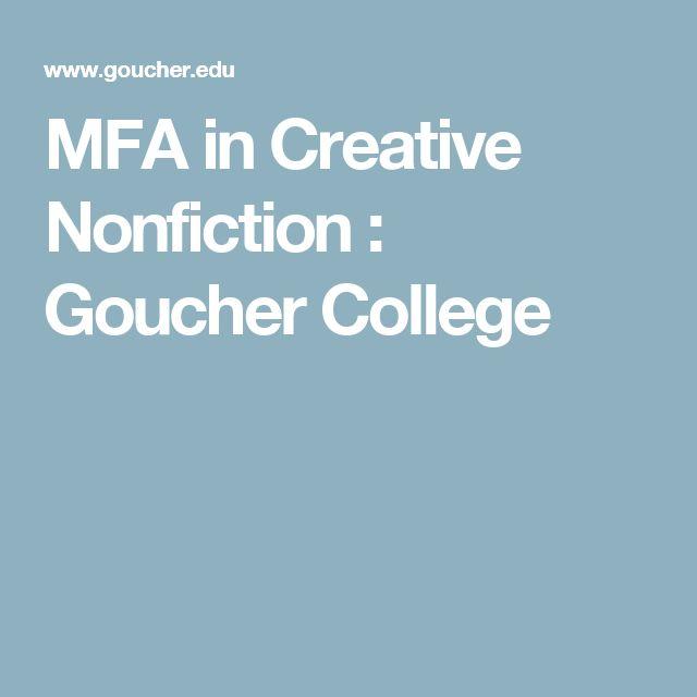 MFA in Creative Nonfiction : Goucher College