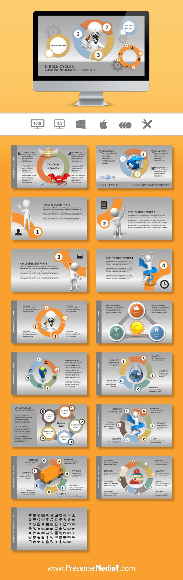 PowerPoint Circle Cycles Template #PowerPoint #Templates #Presentations http://bit.ly/2bj6O7F