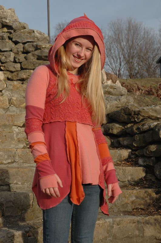 pink and orange sweater