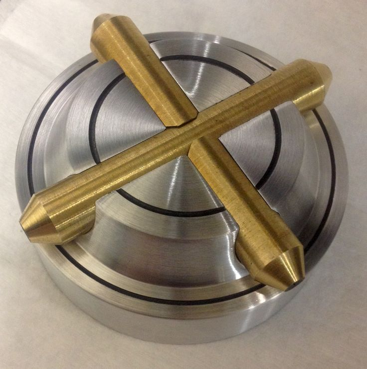 Custom aluminum and brass gas cap I made for a bobber project