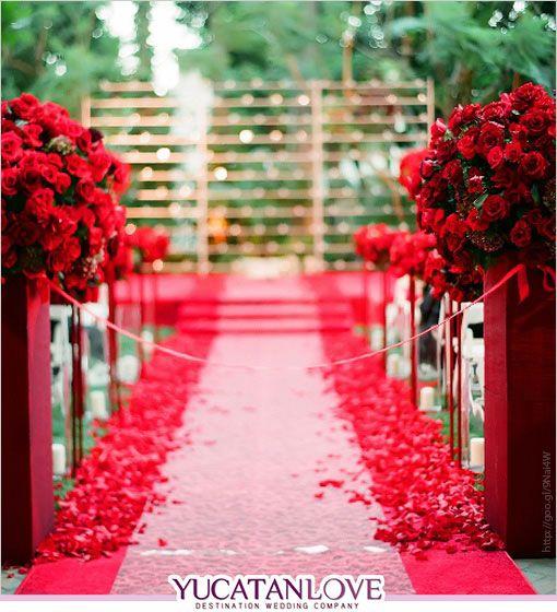 Tu boda con un toque de Rojo Intenso - Wedding Ideas | YUCATANLOVE - Destination Wedding Blog