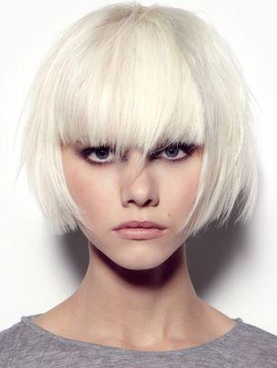 Jeux de coiffure 2014: White Hair, Platinum Blondes, Blunt Bangs, Platinum Bobs, Shorts Hair, Blondes Bobs, Whitehair, Shorts Bobs, Hair Style