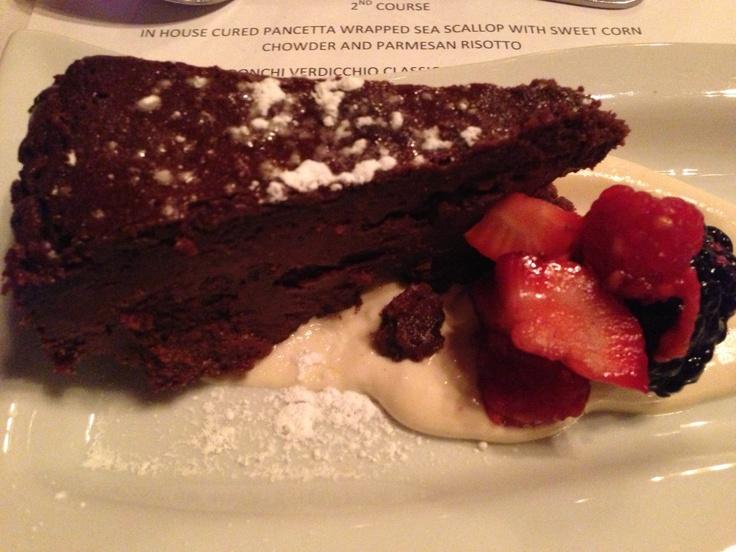 Flourless Chocolate Torte at Gianmarco's Restaurant, Homewood, Alabama.