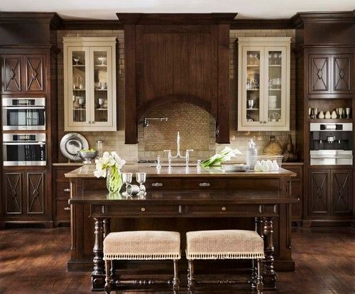 i like the blend of light & dark, the built in espresso maker and i really like the table & stools against the island