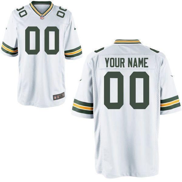 Green Bay Packers Custom Game White NFL