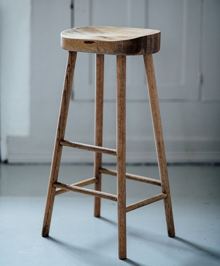simple wooden stool & Best 25+ Oak bar stools ideas on Pinterest | Kitchen bars Wall ... islam-shia.org