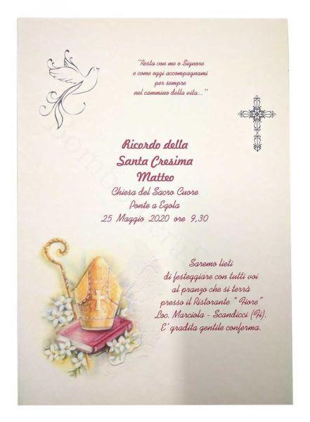 Partecipazione per Santa Cresima colorata