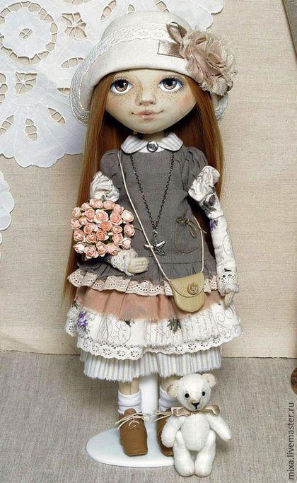 Коллекционные куклы ручной работы. Ярмарка Мастеров - ручная работа. Купить Анюта. Handmade. Интерьерная кукла, подарок на день рождения