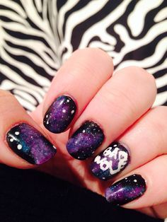 Doctor Who nails  So I'm going to get this done but for the thumb nails I'm going to put the Policebox there ^-^ I'm gonna be so happy ^_^  Idk when I'm doing that doe. Hopefully soon