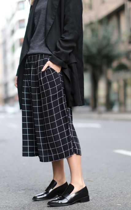 windowpane culottes. Styling idea for Liesl + Co Girl Friday Culottes.