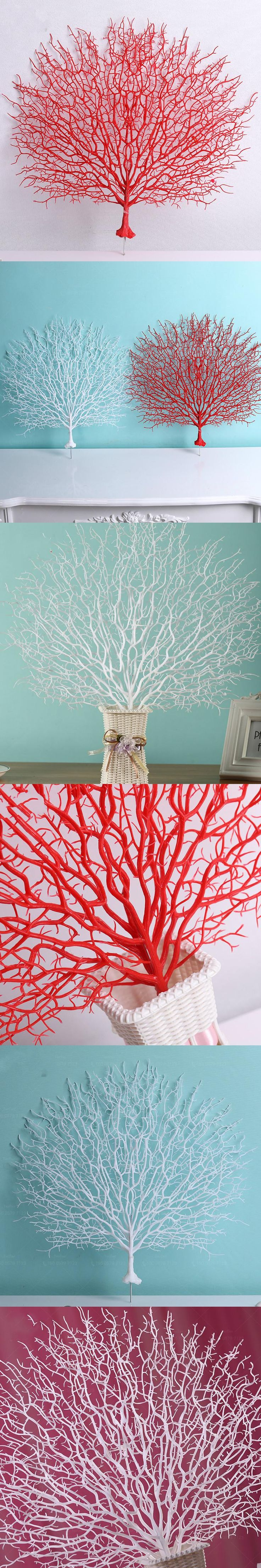 Artificial Tree Branch Peacock Coral Branch Plants The Wedding Home Decoration Plastic Adornment Photography Props Home Decor