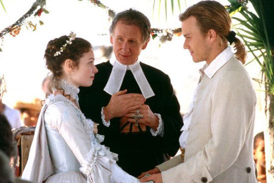 The Patriot: Before war strikes, Gabriel (Heath Ledger) weds Lisa (Anne Howard) with friends and family by their side. We don't want to spoil the movie, but it's a shame they don't get to live happily ever after