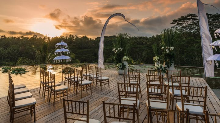 Enchanting Ubud wedding venues await you and your guests at Four Seasons Resort Bali at Sayan. Experience the ultimate in tropical splendour.