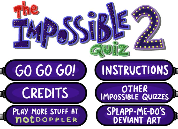Play The Impossible Quiz 2 Click photo to play online