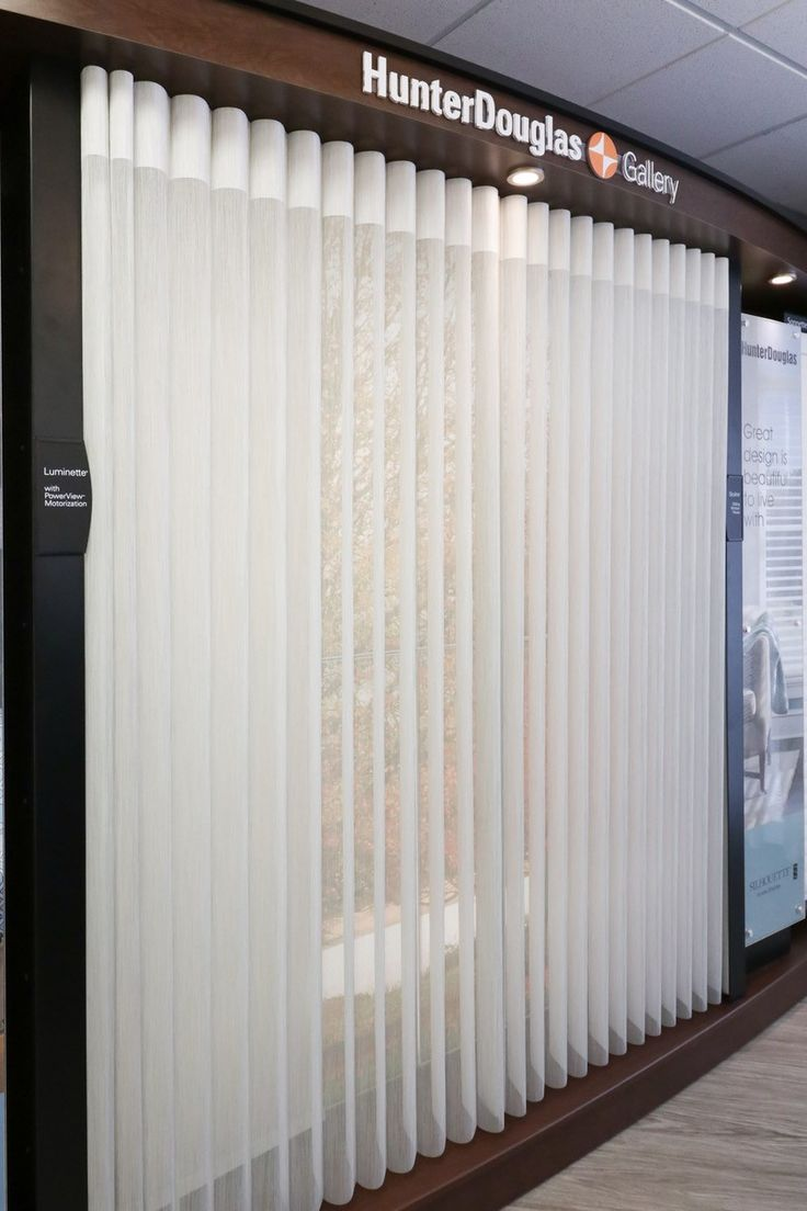 Hunter Douglas Luminette Privacy Sheers at our Kelowna location.