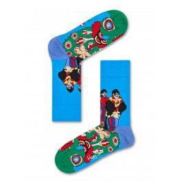 Ga op reis naar een avontuurlijk droomland met onze Pepperland sokken, die onderdeel vormen van onze samenwerking met The Beatles. Een ijsblauwe sok is de achtergrond voor een eigenzinnige illustratie van de vier leden van The Beatles, met als achtergrond een wervelend abstract patroon in groen, blauw, zwart, rood, wit en lichtroze. Een lichtblauwe hiel en groene teen maken dit paar psychedelische must-have sokken helemaal af. Verkrijgbaar in heren- en damesmaten en gemaakt van comfortabel…