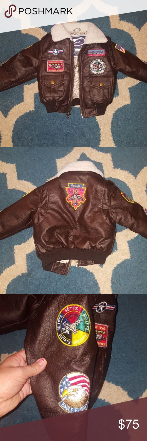 Toddler Bomber Jacket precious like new toddler bomber jacket. This is a very high quality, barely worn, adorable and warm bomber jacket for a little boy or girl. Up up and away jackets Jackets & Coats