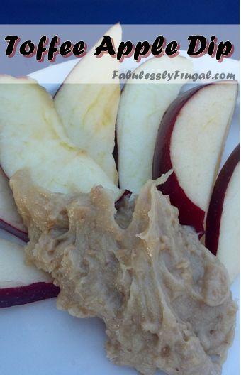 5 Ingredient Toffee Apple Dip... SO Delish! http://fabulesslyfrugal.com/2012/09/toffee-apple-dip.html