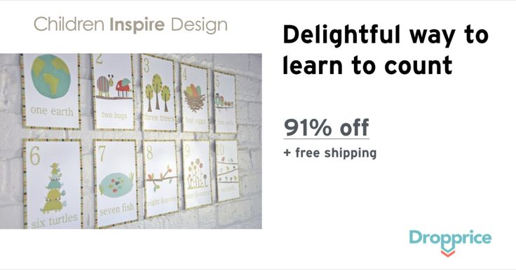 "Help me drop the price of the Children Inspire Design Cards to $1.99 (91% off). The price continues dropping as more moms click ""Drop the price"". Moms drop prices of kids & baby products by sharing them with each other."