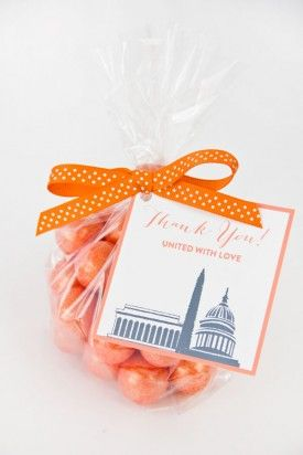 DIY Washington DC Wedding Favor Tags