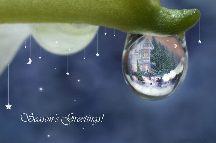 Christmas drops - Postales de Navidad en gotas de agua