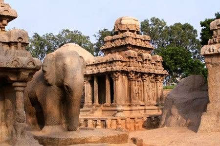 Mahabalipuram: The bustling seaport of ancient India - It is also home to several ancient sites and structures. Mahabalipuram is one of the oldest sea port of Southern India dynasties, such as the ancient Pallava dynasty(5th and 8th centuries).It is a small coastal town located at a distance of about 59km from Chennai.