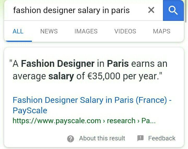 Pin By Krish Na On Details Fashion Designer Salary Paris France All News