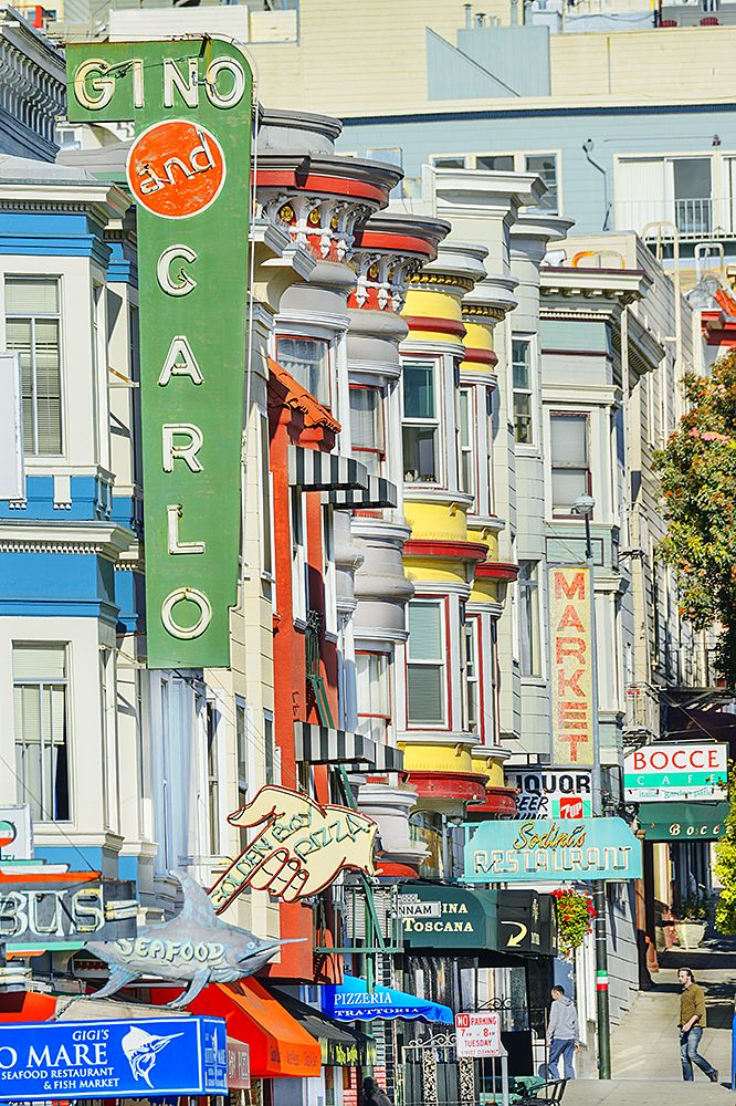 Restaurant Row In North Beach San Francisco
