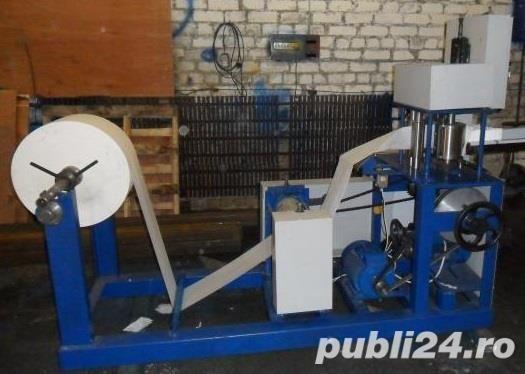 Utilaj automat fabricare tuburi carton div lungimi si stratificari