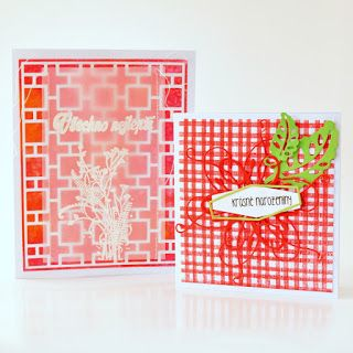 using of brayer for card´s background