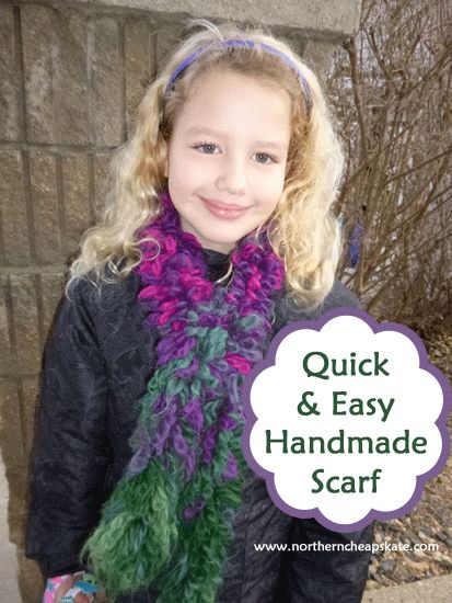 WOW!  Quick AND Easy!!! Make a beautiful handmade scarf in just 3 MINUTES with this tutorial!