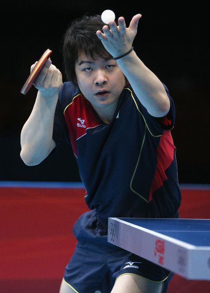 Seiya Kishikawa of Japan competes during his Men's Singles Table Tennis Quarter Final match against Wang Hao of China on Day 5 of the London 2012 Olympic Games at ExCeL on August 1, 2012 in London, England.