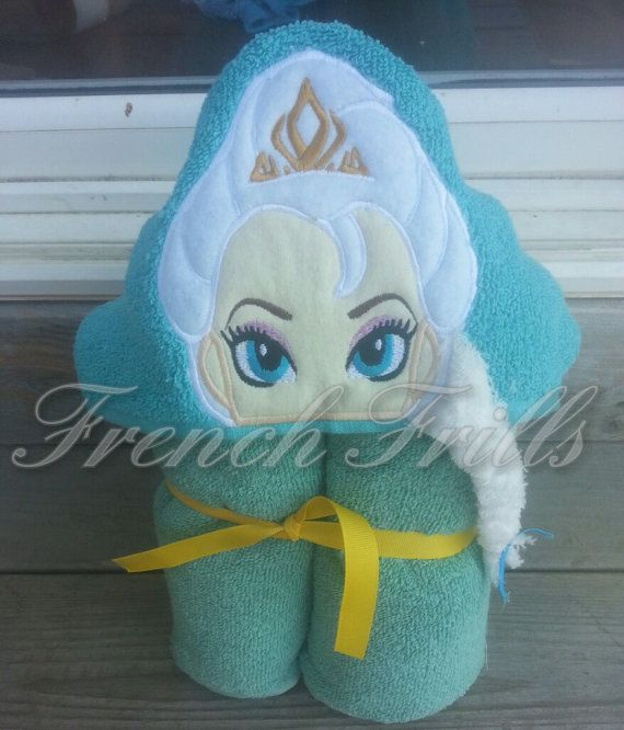 hooded towel machine embroidery designs
