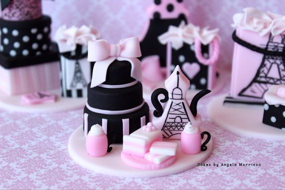 Set of Paris oh la la cupcake/cake toppers by CakesbyAngela