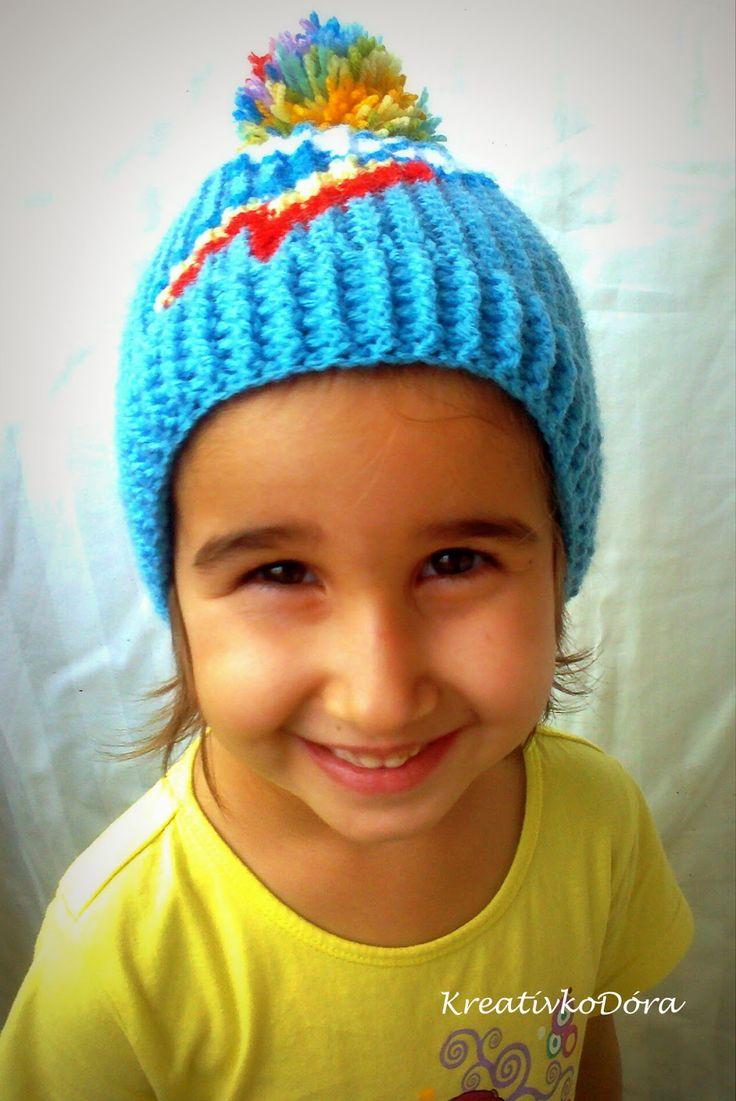 Crochet Raindbowdash hat