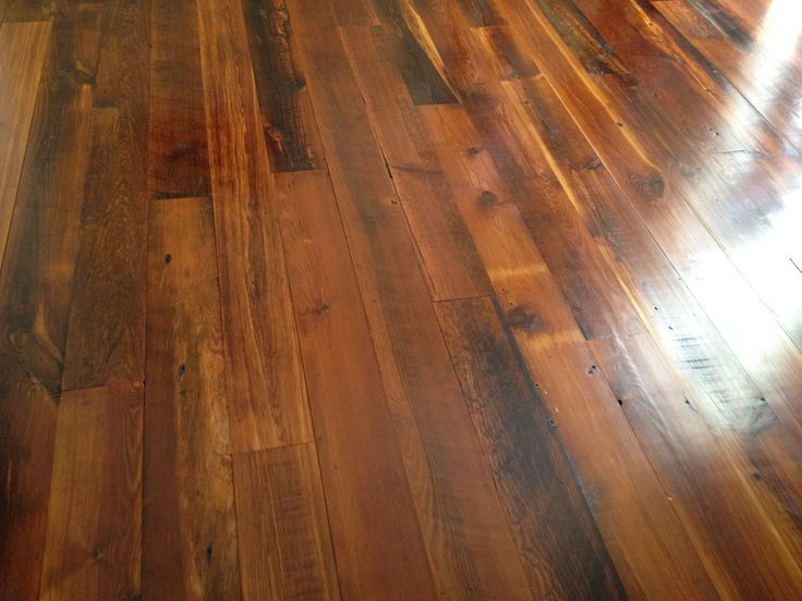 No stain on this heart pine floor, just a sealant. Incredible natural beauty.
