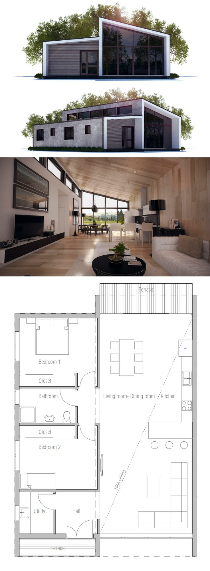 437 best casas images on pinterest homes small houses and casa small home planssmall