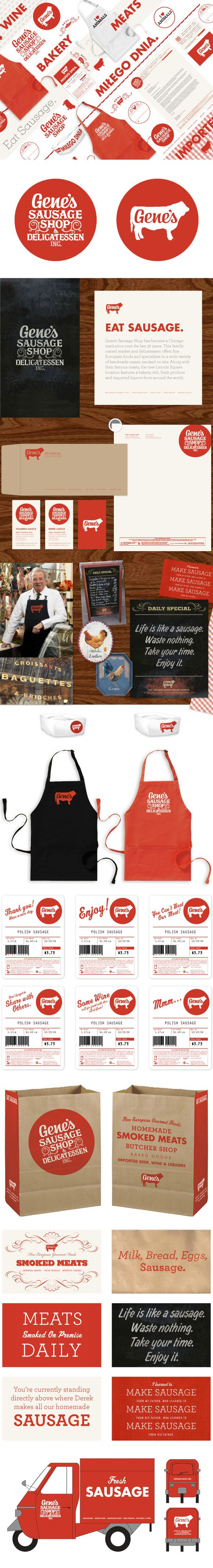 Gene's Sausage Shop. Let us put together a branding solution package for