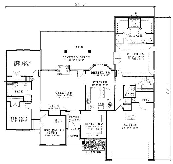 57 best ranch home floor plans images on house plans