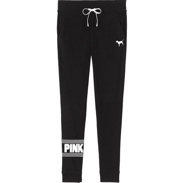 SWEATPANTS (2,065 DOP) ❤ liked on Polyvore featuring activewear, activewear pants, jogger sweatpants, jogger sweat pants, skinny leg sweatpants, pink sweat pants and skinny fit sweatpants
