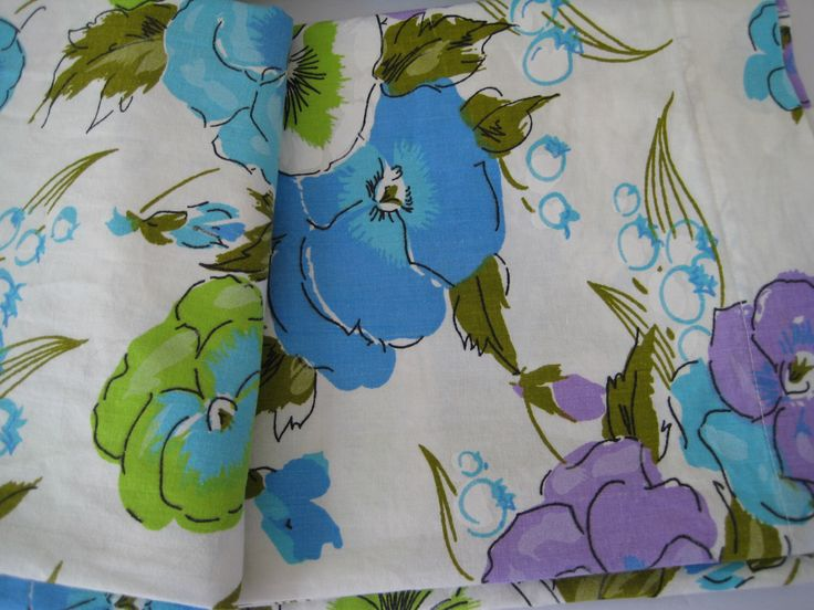 vintage queen bed sheets pansy flowers purple flower bedding blue flower power fitted flat set cotton - Queen Bed Sheets