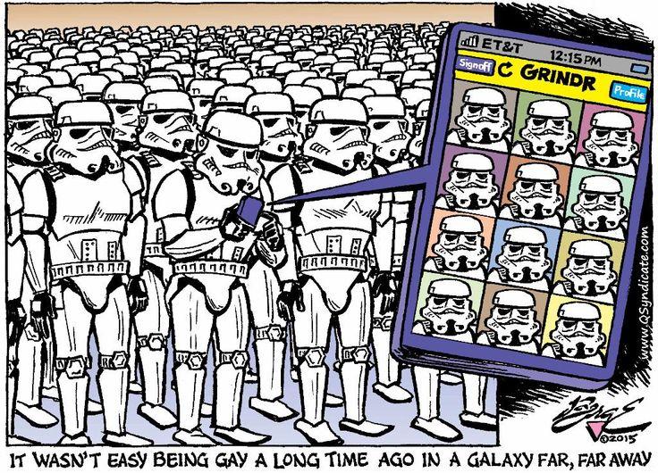 GayCalgary.com - Editorial Cartoon: The Empire Swipes Back