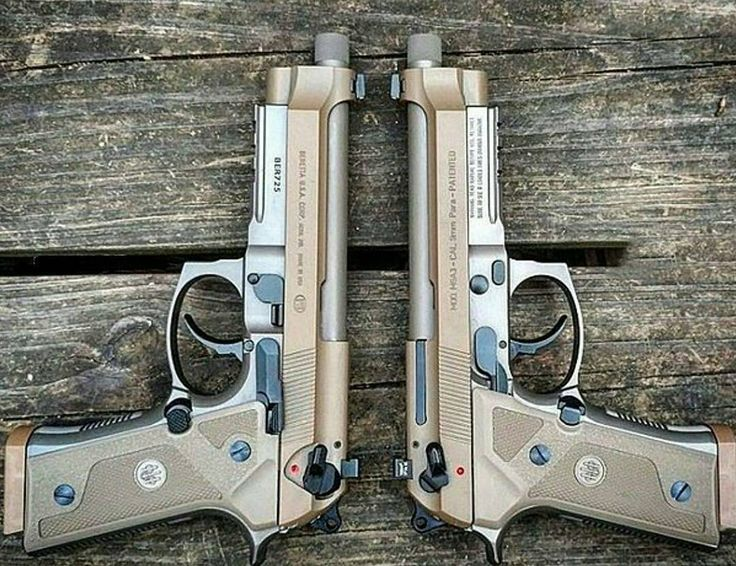 A pair of Beretta m9a3 pistols