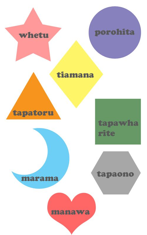 te reo shapes plus more